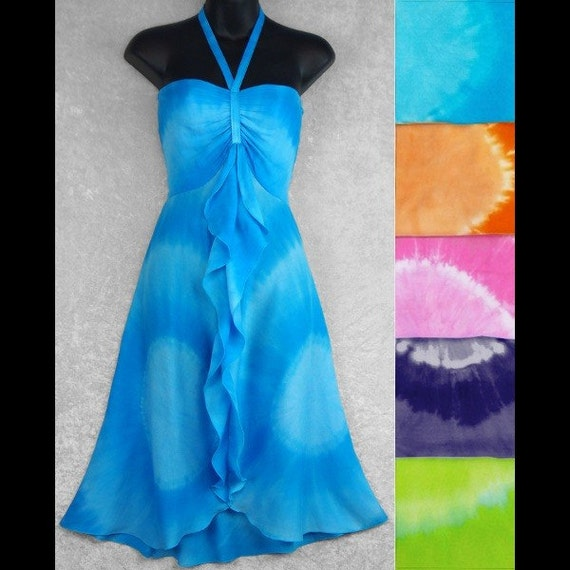 Ladies Tie-Dyed Summer Sundress College Large By Tiedyeladies-9457