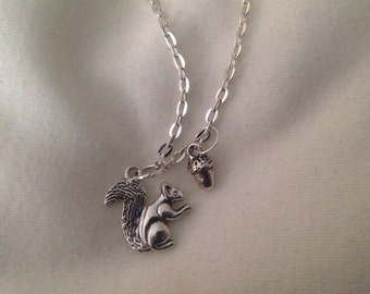 "A Squirrel with his Acorn 18"" Necklace"