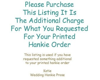 Additional Charge For Your Hankie Order (2)