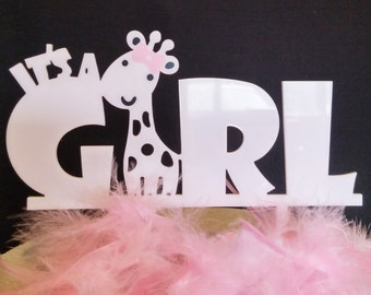 It's A Girl Arcylic Cake Topper Baby Cake Topper