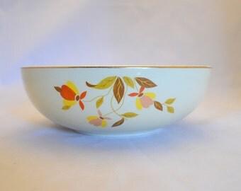Vintage Hall's Kitchenware Salad or Serving Bowl, Jewel Tea Autumn Leaf