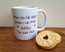 Spiders willies mug