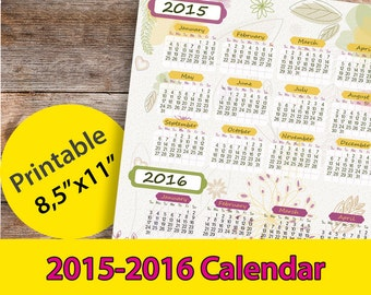 Period Tracker Calendar 2015 Printable | Calendar Template 2016