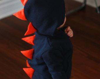 Dino Hoodie 2T, sibling gift, hooded sweatshirt, Toddler Gift