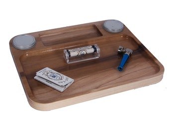 "Marijuana Rolling Tray - THE STEAMBOAT - 10"" X 12"" Rolling Tray made out of Colorado Aspen."