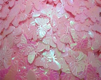 60 20mm Butterfly Sequins - Iridescent Pink