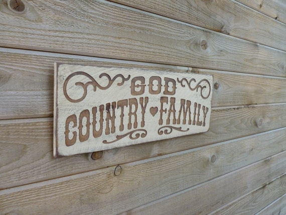 God Country Family Western Carved Wood Sign By Rockingscreations