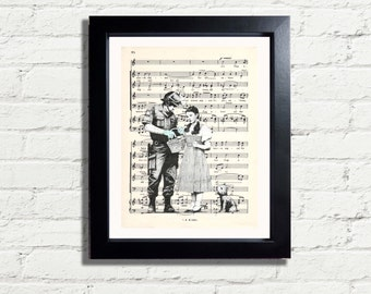 Banksy Art Wizard Of Oz Dorothy & Dog Toto Police Graffiti Wall Art Print INSTANT DIGITAL DOWNLOAD  A4 Printable Wall Hanging Home Decor