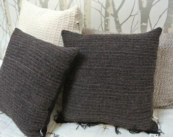 Cushion Brown fringe black