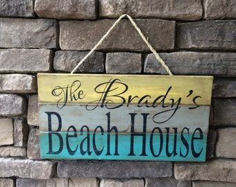 Personalized Beach House, Lake House, Cabin, River, Boat, Barn, Rustic Weathered Wooden Sign