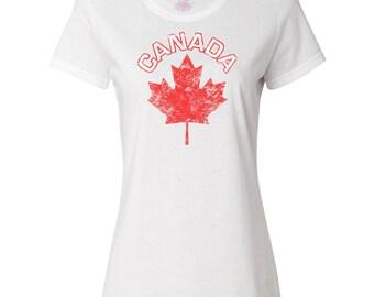 Canada Maple Leaf Women's T-Shirt by Inktastic