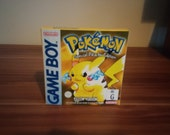 Game Boy Pokemon Yellow  NTSC or Pal Repro Box with Insert NO GAME Included