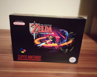 SNES Zelda Goddess of Wisdom - NTSC Repro Box and Insert NO Game Included