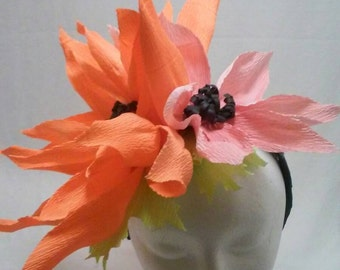 Paper Flower Fascinator