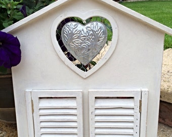 Vintage style shabby chic house shaped photo frame