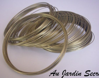 Steel Memory Wire, Bracelets Making - Antique Bronze, 5.5CM, Wire: 0.6mm, about 10 circles