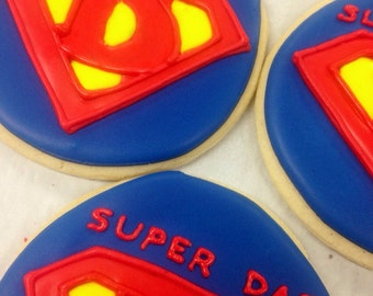 Super Dad Father's Day Dad's birthday sugar cookies