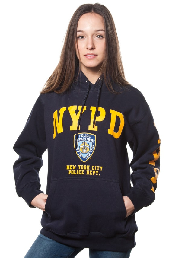 Adult Nypd Navy Pullover Hoodie With