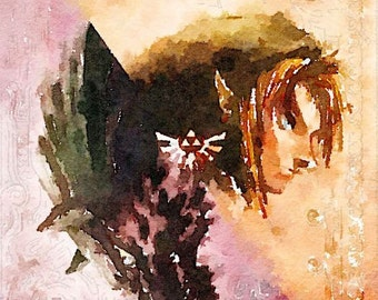 The Legend of Zelda series (10) digital Watercolor Poster Print Art