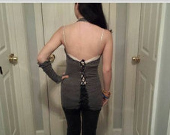 Back-Corsetted Halter