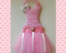 Tutu bow holder - sm. Pink