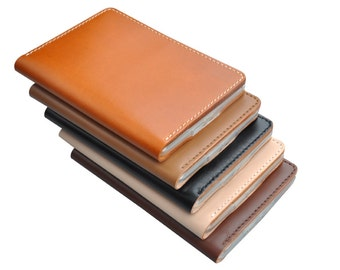 Handcrafted vegetable tanned leather book case sleeve for Kindle Paperwhite 1 2 3