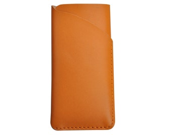 Personalized Handcrafted genuine leather Sleeve case  for  Philips I928 W6618  I908    W8510 W8560