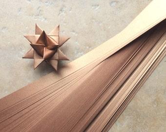 Paper Strips to make 3D Stars (Moravian Froebel Quilling Weaving) Copper Sheen 3/4in