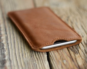 Leather iPhone 6 case Personalized case Custom iPhone 6 sleeve