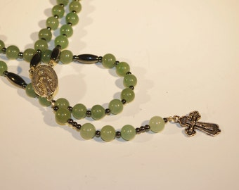 Green Aventurine Crystal Necklace Rosary