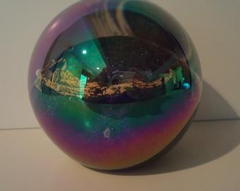 "Signed vintage ""Venus""  art glass paperweight"