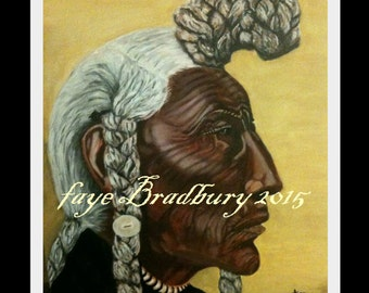 SMALL Bear Bull, Blackfoot -  Indigenous People from Around The World - Unframed, SMALL Limited Edition fine art giclee