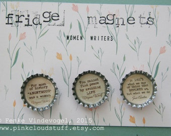 Fridge magnets, women writers