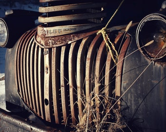 Chevrolet, Truck, Rust, Snow, Vintage