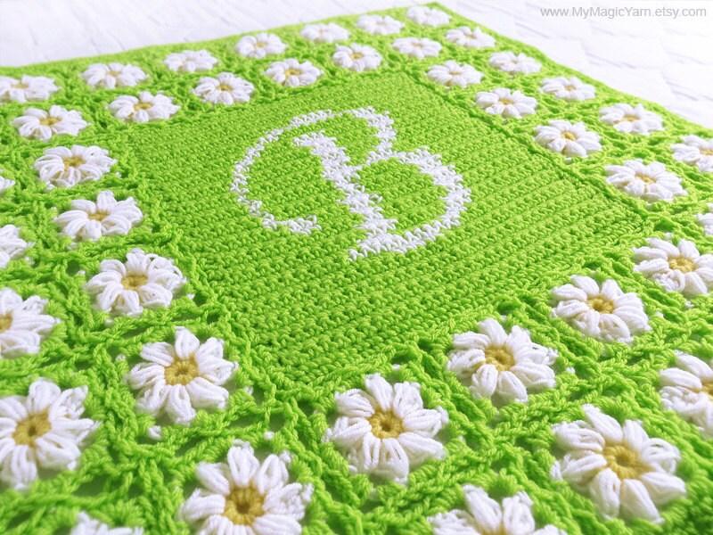 Crochet Pattern PDF Personalized Crochet Baby Blanket