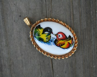 Vintage Bird Necklace Charm