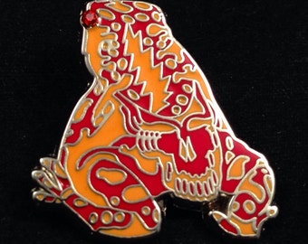 Grateful Dead Poison Dead Frog. Orange & Red . Limited edition-50