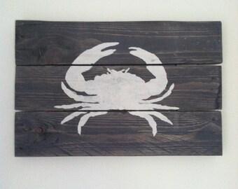 Rustic crab art