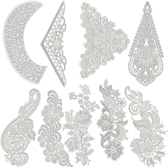 Vintage lace pack machine embroidery designs