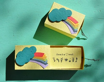 WEATHER in Paper box that Shoots RAINBOW