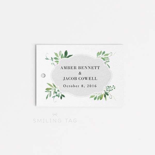 Wedding Gift Tags To Print : Printable Wedding Favor Tags Printable Favor Tags Wedding Gift