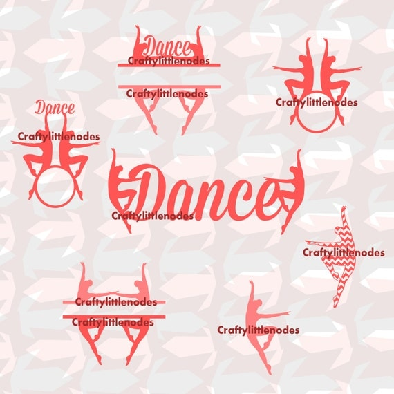 Dancing SVG STUDIO Ai EPS  Cutting Files for cut machines silhouette cricut dancing monograms for circle alphabet Ballet Commercial Use