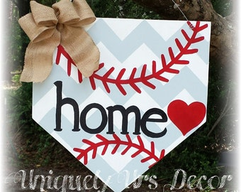 Baseball Home Plate Door Hanger