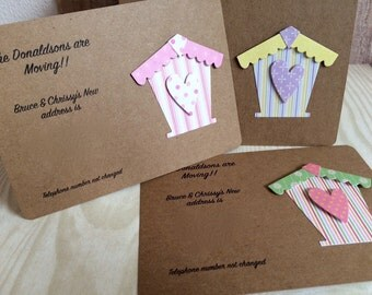 Handmade Change of Address Cards with Envelopes (Pack of 10)