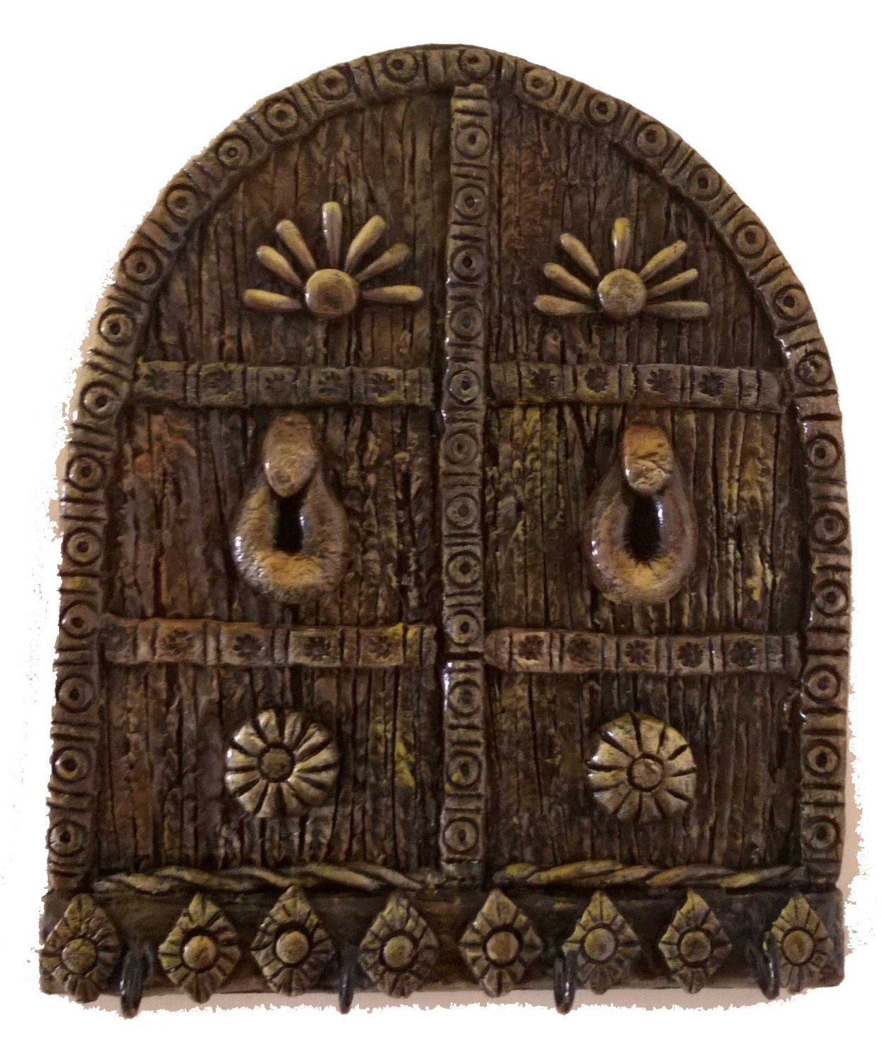 Key holder antique door design wooden key holder by for Door key design