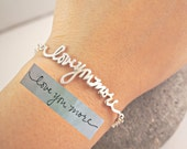 Memorial Signature Bracelet - Personalized Signature/Handwriting Bracelet - Children Handwriting - Silver Jewelry - Bridesmaids Gift