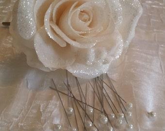 Pearl Corsage Pin, Pearl Flower Pin, Wedding Flower Pin, Wedding Flower Pin, Pearl, Bouquet Pearl Pin, White Pearl Head Pin, Pearl Pin