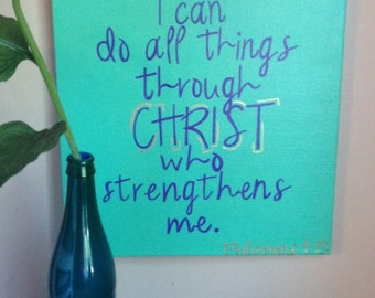 Bible Verse/Quote Hand Painted Canvas- Can Customize!