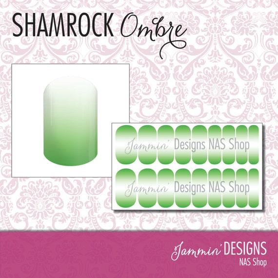 Shamrock Ombre NAS (Nail Art Studio) Design
