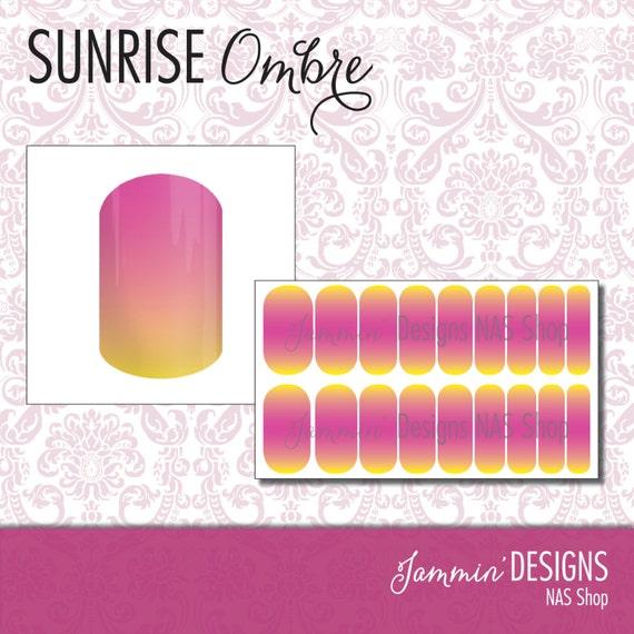 Sunrise Ombre NAS (Nail Art Studio) Design